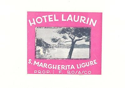 Hotel Laurin S. Margherita Ligure Italy Luggage Label