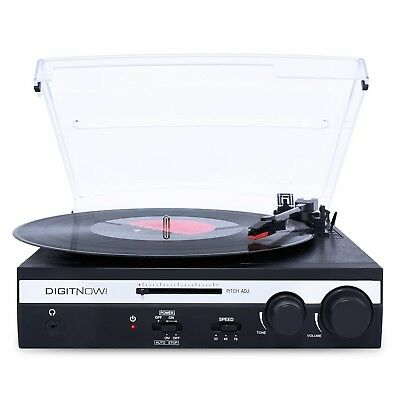 DIGITNOW 3 Speed Vinyl Turntable Record Player with Built-in Stereo Speakers LP