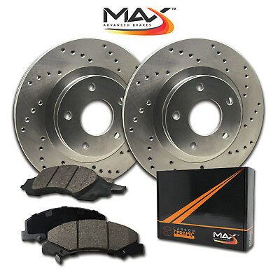 2011 2012 GMC Savana 3500 EXT w/DRW Cross Drilled Rotors w/Ceramic Pads R