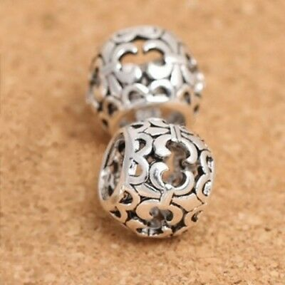 Openwork FLEUR DE LYS spacer/LIS-Lily-Scout-Solid 925 sterling silver charm bead