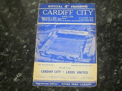 Cardiff City v Leeds United FA Cup 3rd Rd - 1963/64