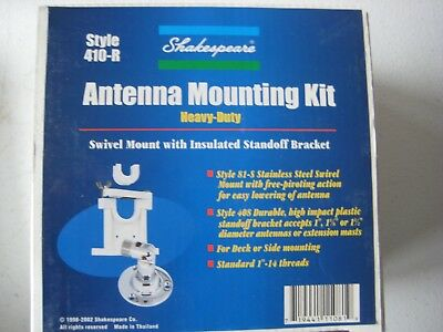 Shakespeare 410-R Swivel Mount Mounting Kit for longer VHF, SSB antennas -New