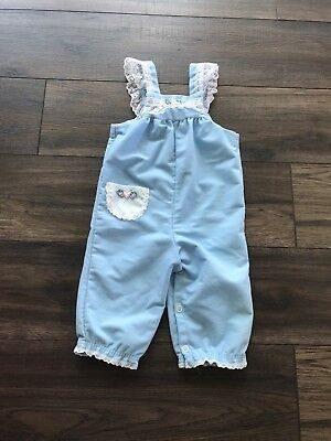 Vintage Baby Girl Overalls 12 Months