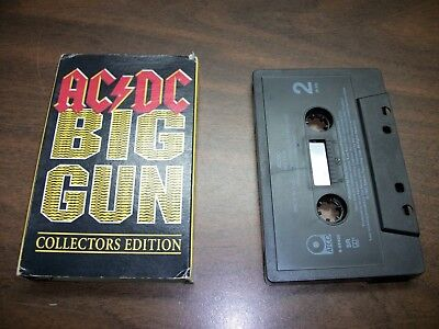 Audio Tape Cassette Single, Ac/dc Big Gun Back In Black, Collectors Edition