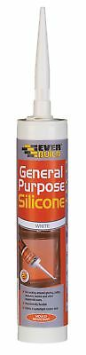 NEW Flexible Bath Seal 25GPSWE General Purpose Silicone Sealant White 1 Pack UK