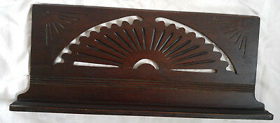 Antique Eastlake Victorian Carved Sunburst Sheet Music Book Stand Top Wall Shelf