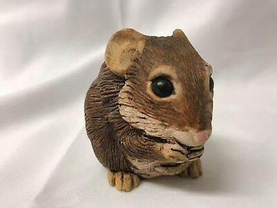 Sweet brown stone-cast mouse sculpture by Creative Dimensions