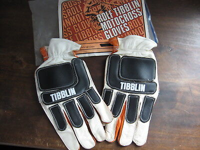 Vintage NOS Rolph Tibblin Motorcycle Motocross Racing Gloves In Package size M