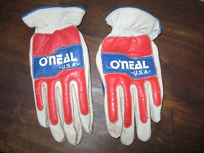 Vintage O'Neal U.S.A Motorcycle Motocross Racing Gloves size M