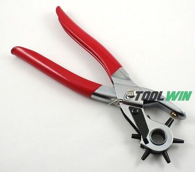 """Leather Hand Plier Belt Holes Hole Punch Tool 9"""" Heavy Duty NEW"""