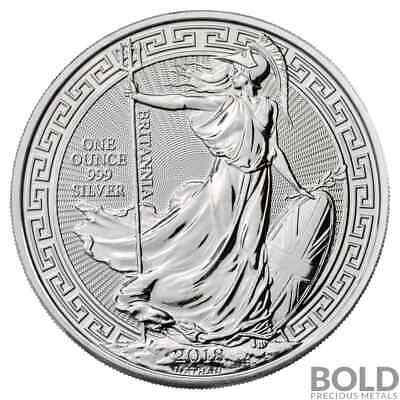 2018 .999 1 oz Silver Great Britain Britannia Oriental Borders Mint Capsule