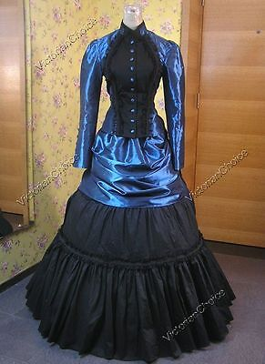 Victorian Edwardian Bustle Gown Dress Steampunk Riding Theater Costume N 139 L