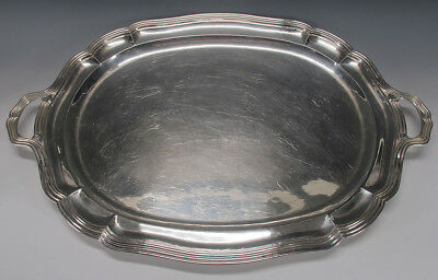 Vintage '30's Art Deco Sanborns Mexico/Taxco Sterling Silver Serving Tray #6 yqz