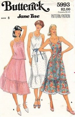 1970's VTG Butterick Misses' Dress,Top,Skirt Jane Tise Pattern 5993  8 UNCUT
