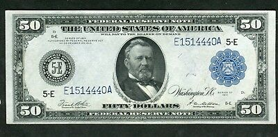 FR1043 $50 Large Size 1914 FRN AU Almost Uncirculated (ONLY 93 REPORTED)
