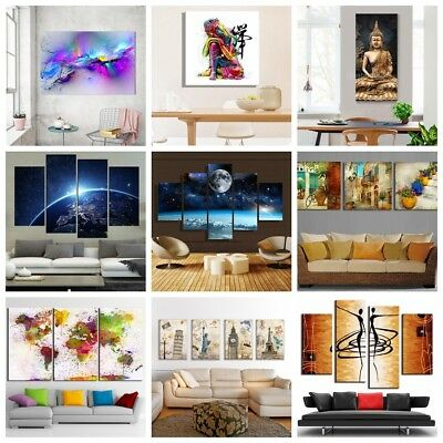Abstract Modern Canvas Painting Print Picture Home Wall Art Decor Unframed