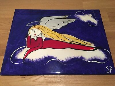 Angel Decorative Tile By Sharon Peterkin