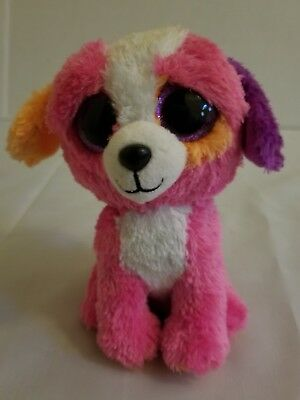 "08134b00228 Ty Beanie Boos Austin the Puppy Dog Multi color 6"" Claire s Exclusive"