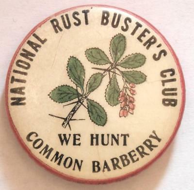 National Rust Buster's Club We Hunt Common Barberry Celluloid Pin Tray22-14