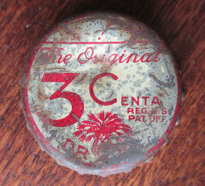 Vintage 3 CENTA Soda Cork Bottle Cap, South Carolina Tax