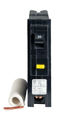 Square D  HomeLine  Single Pole  20 amps Circuit Breaker