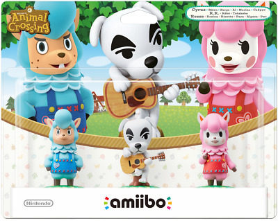 Amiibo Animal Crossing 3 Pack Tripack Merino K.k. Alpaca Nintendo New Saled