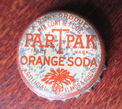 Vintage NEHI Par-T-Pak Orange Soda Cork Bottle Cap, South Carolina Tax
