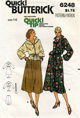 1970's VTG Butterick Misses' Dress,Top,Skirt,Belt Pattern 6248 Size 14 UNCUT