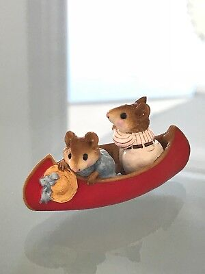 Wee Forest Folk Two in a Red Canoe - 1981 William Petersen