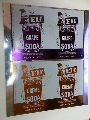 Vintage 1968 Elf Soda Lot of 4 Unused Unrolled Aluminum Cans