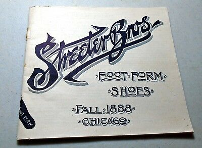 1888 Streeter Bros. Foot Form Shoes of Chicago Beautiful 48-Page Shoe Catalog