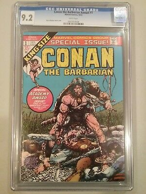 CONAN THE BARBARIAN #1 CGC 9.2 White Pages. 1973
