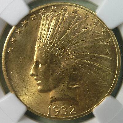$10 1932 Indian Head Gold Eagle NGC MS62 * AvenueCoin