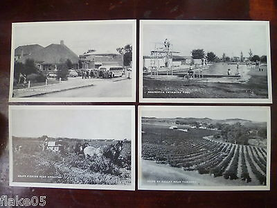 4 Barossa Valley postcards, images c.1950's, unused, Nuriootpa, Angaston Tanunda