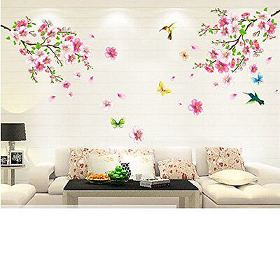 Cherry Blossom Wall Decal Pink Flower Tree Wall Decal For Nursery Decoration NEW