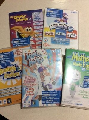 Maths English Educational Pc Discs All Ages Exc Cond