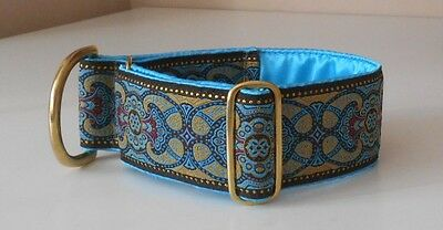 Collier martingale collar chien, lévrier, galgo, greyhound, saluki, etc