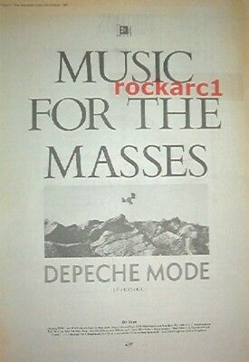 DEPECHE MODE Music For Masses 1987 UK Poster size Press ADVERT 16x12 inches