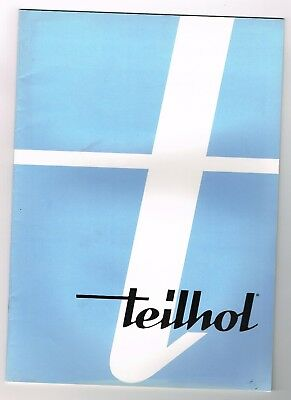 Ancienne Brochure Teilhol La Production Usines Courpiere