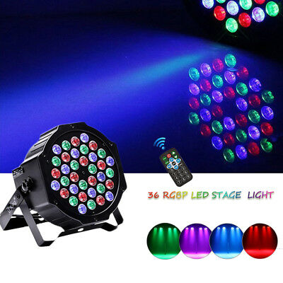 80W 36LED RGB Stage Light Par Lighting Club DJ Party Disco DMX512 + Remote