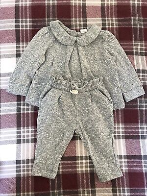 Baby Gap Girls Collared Tracksuit, 6-12 Months