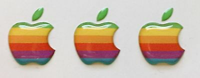3pcs Domed Apple logo stickers for iPhone cover. Original size 15,5x12,6 mm