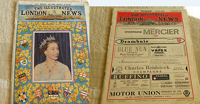 2x THE ILLUSTRATED LONDON NEWS 1959 August November Queen Königin Elizabeth