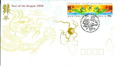Christmas Island 2000 Year of the Dragon FDC