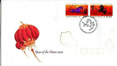 Christmas Island 2002 Year of the Horse FDC