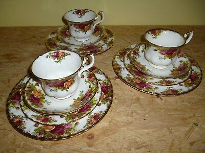 Royal Albert Old Country Roses 12 Teile aus Nachlass (3 Gedecke)
