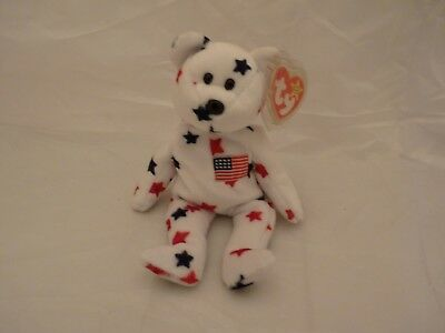 1997 Ty Original Beanie Babies GLORY The Red White Blue Bear w/Tags  (9 inch)