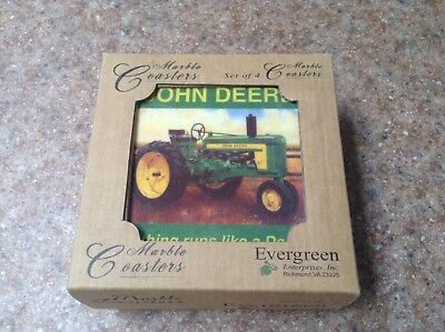 John Deere Tractor Stone Coaster Set Of 4