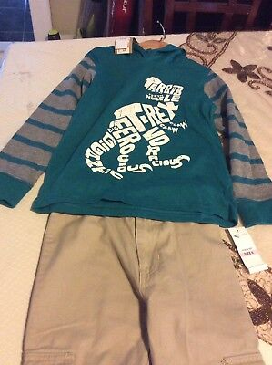 Boys 2 Piece Pants and Shirt Outfit  Set Size 6 NWT