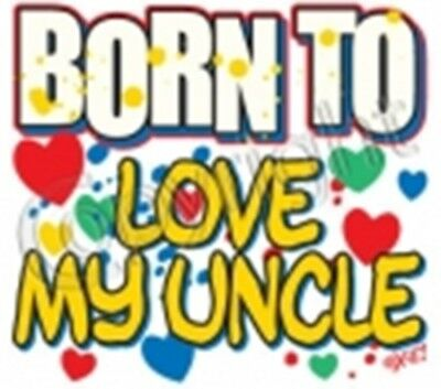 Uncle born to love kid T-Shirt robber new baby shower birthday gift US size new